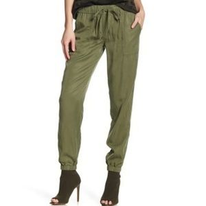 Sanctuary Green Drawstring Tencel Jogger Pants L